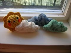 Sun Amigurumi Pattern.  to go perfectly with the clouds.