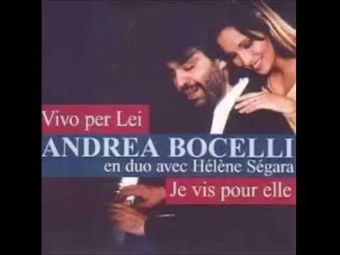 Andrea Bocelli & Helene Segara - Vivo Per Lei (Al Dente)(HQ)LYRICS - YouTube