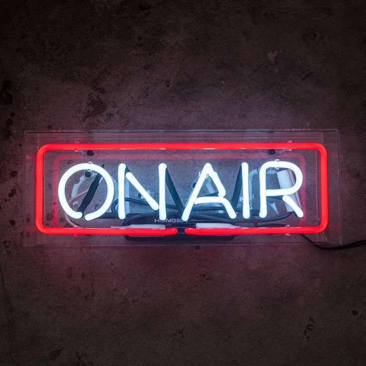 ON AIR Neon Sign in Acrylic Box