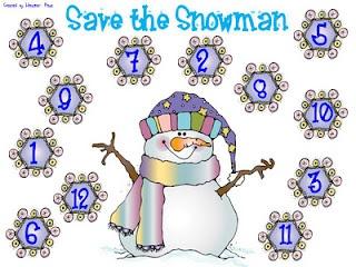 Save the Snowman! free math game
