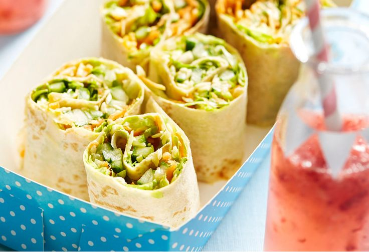 Lunchbox dramas are sorted with these vegie-stuffed wraps.
