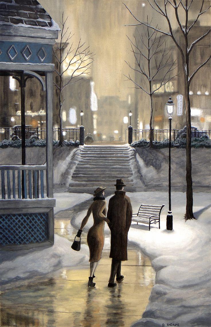 The Shortcut. #winter #vintage #romantic