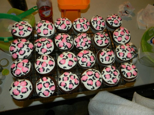 Pink leopard cupcakes!