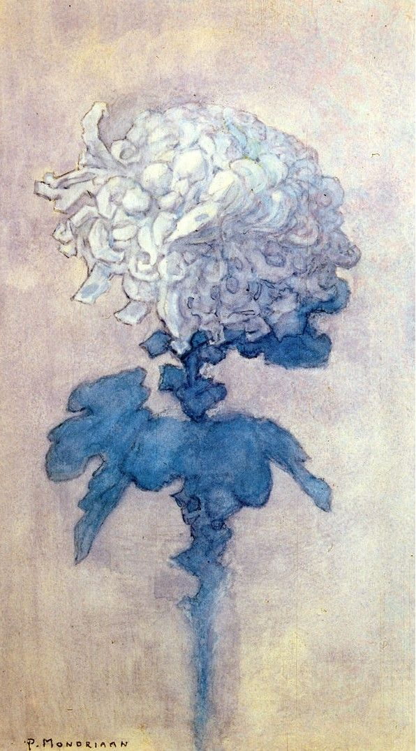 Piet Mondrian (1872-1944) - Chrysanthemum