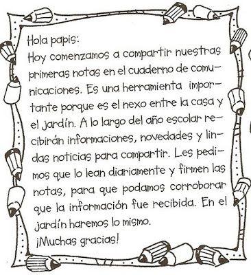 Maestra Asunción: Notitas y Mensajes para Enviar al Hogar.