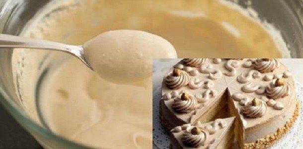 Crema de CAFÉ; perfecta para helados o cubrir pasteles ¡Sólo 3 ingredientes! Si te gusta dinos HOLA y dale a Me Gusta MIREN …