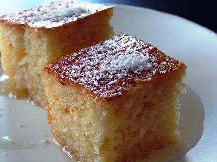 Revani - semolina and almond cake