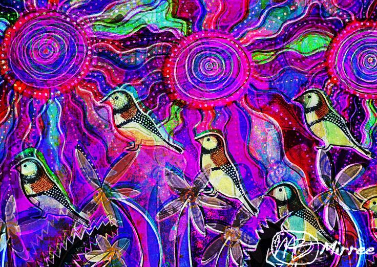 """Ancestral Owl Finches"" ~ INNER KNOWING Are you listening to that tiny voice inside? You are more powerful than you can imagine. Change doesn't come from an inability to see what happens next, but the ability to have trust in the feeling of something better. Believe in the power of your own positive thinking & knowing inside to guide you to the answer you are seeking."