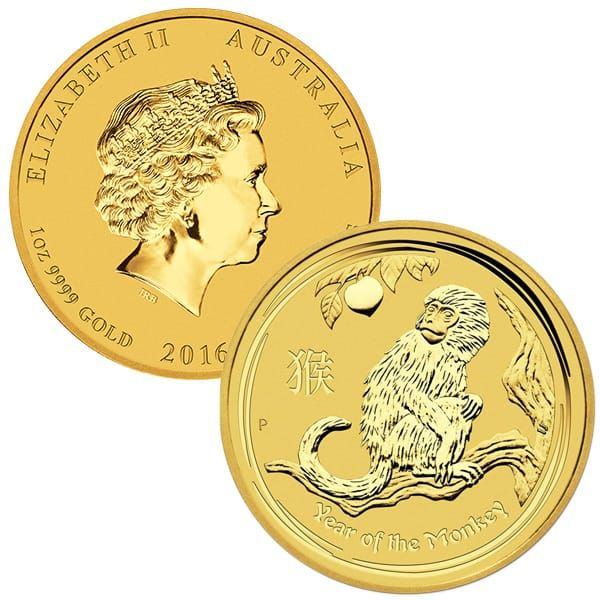 Buy Perth Mint Lunar Series 1 Oz 2016 Year Of The Monkey Gold Bullion Coin Year Of The Monkey Lunar Year Coins