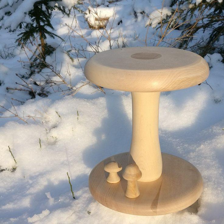 A mushroom stool.  30 cm high