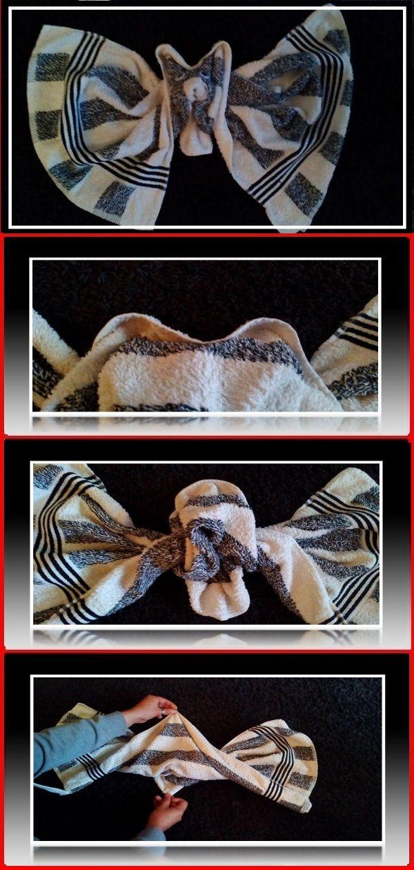 Handtuchfiguren Falten Fledermaus Für Deine Zimmerdekoration