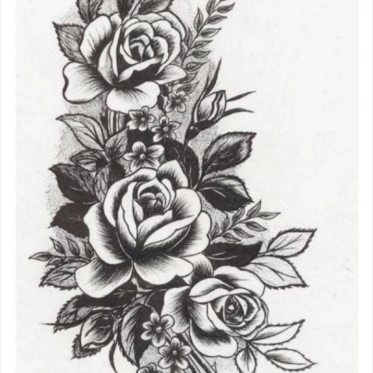 Large floral upper back tattoo by D'Lacie Jeanne. #flower #floral #botanical #D'LacieJeanne #neotraditional