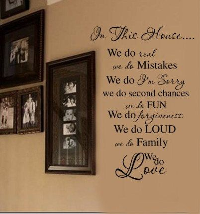 In This House Family Rules Vinyl Wall Lettering Decal. $28.99, via Etsy. -- Another possible decal for the stairway