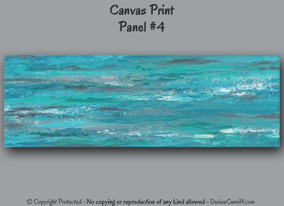 Large & wide wall art for grey, turquoise & teal bedroom decor, office decor or living room wall art - by Denise Cunniff - ArtFromDenise.com. View more info at https://www.etsy.com/listing/203120394/wide-large-wall-art-teal-bedroom-decor