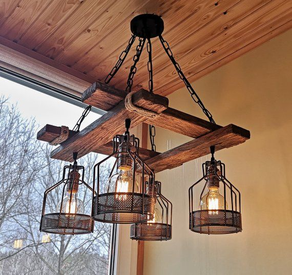 Rustic Light Fixture Hanging Light Rustic Lighting Industrial Pendant Light Wood Rustic Light Fixtures Farmhouse Lighting Dining Wood Chandelier Rustic