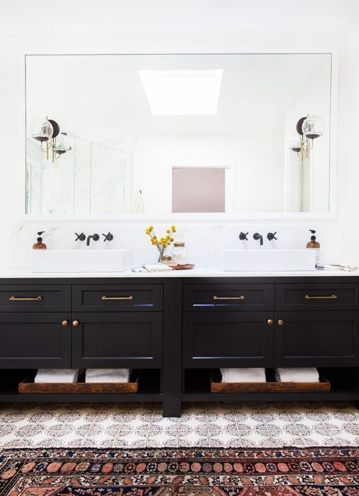 Master Bathroom cabinet - but with different brushed nickel hardware [Cush and Nooks: California Style]