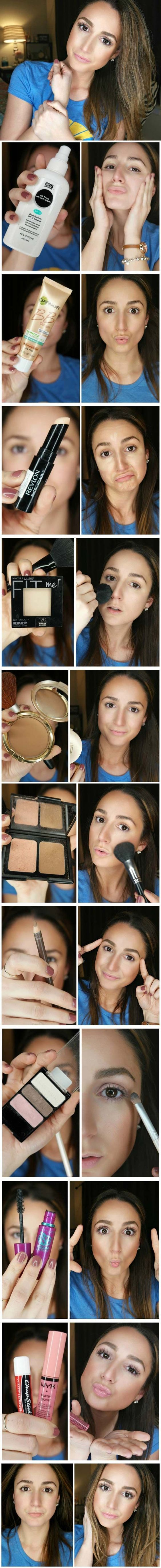 Best Makeup Tutorials for Teens -5 Minute Everyday Makeup Routine - Easy Makeup Ideas for Beginners - Step by Step Tutorials for Foundation, Eye Shadow, Lipstick, Cheeks, Contour, Eyebrows and Eyes - Awesome Makeup Hacks and Tips for Simple DIY Beauty - D