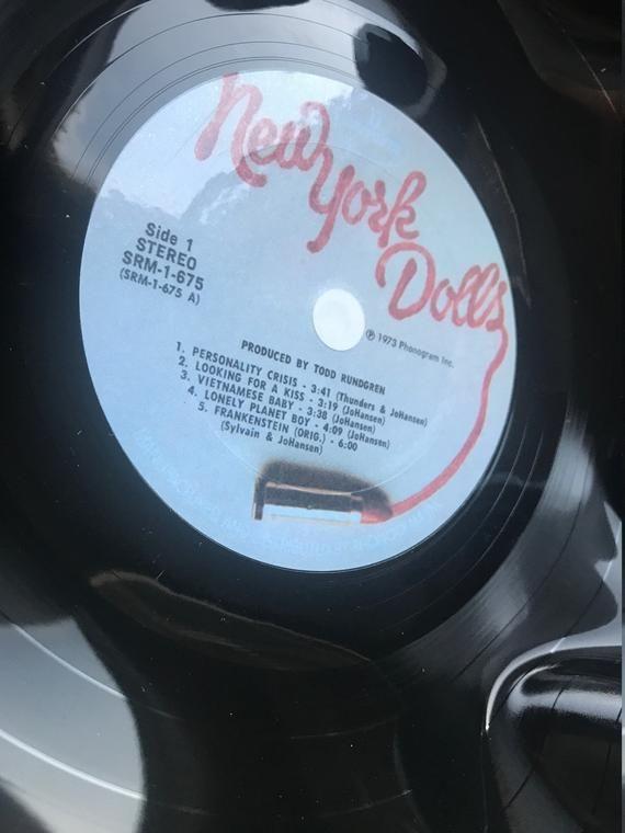 Record Bowl Classic Punk 12 Vinyl Vintage 70 S Etsy Record Bowls Punk Rock Printing Labels