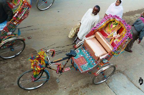 Dhaka Bangladesh Asia Cycle rickshaw