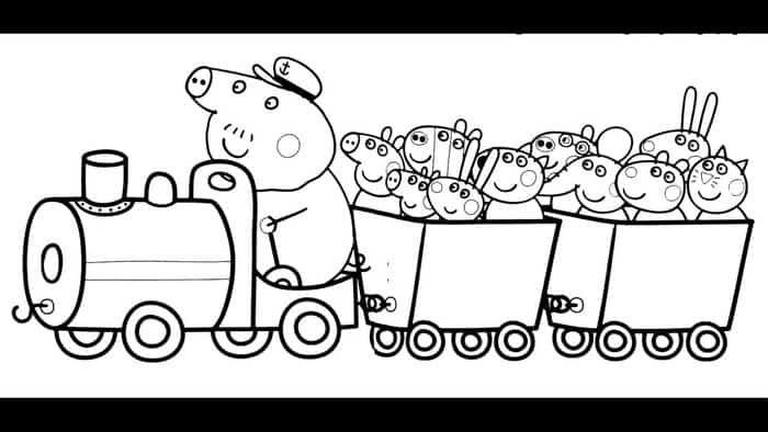 Printable Peppa Pig Coloring Pages Peppa Pig Coloring Pages Peppa Pig Colouring Train Coloring Pages