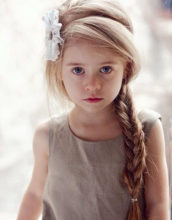 Yes this is a little girl, but the hair style is pretty. I'd substitute a different hairband.