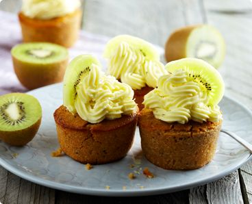 Rezept: Kiwi Cupcakes mit Buttercreme-Frosting