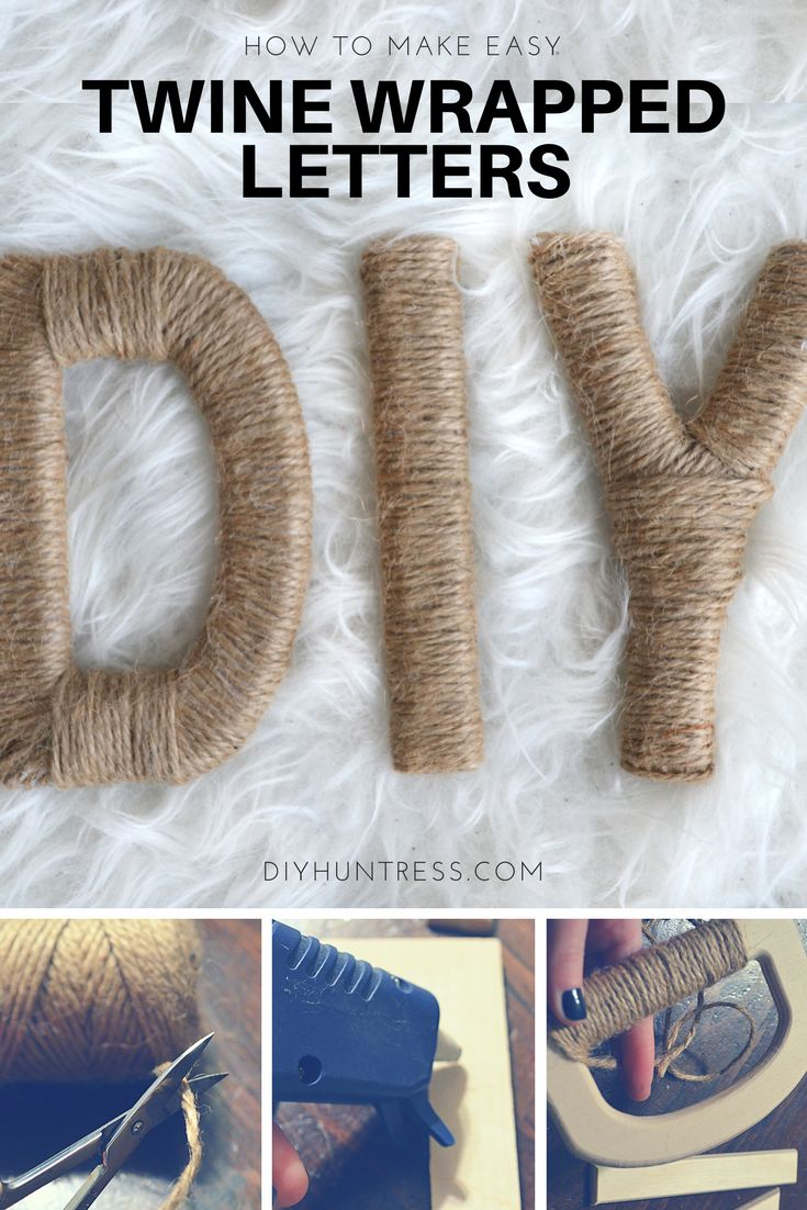 How to make quick and easy twine wrapped letters. Great for parties and gift decor!