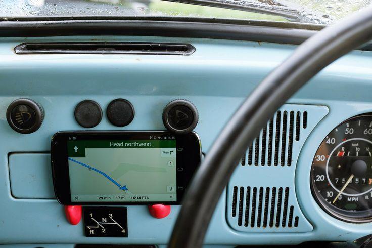 Make a dashboard phone holder for a vintage VW Beetle
