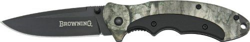 Browning Knives 276 Mossy Oak Linerlock Knife with Black Blade