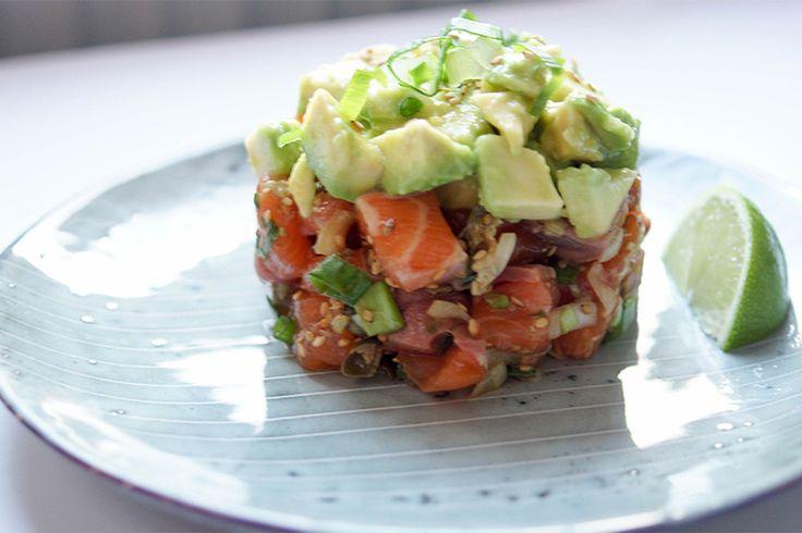 Frischer Lachs-Tartar MIT Avocado