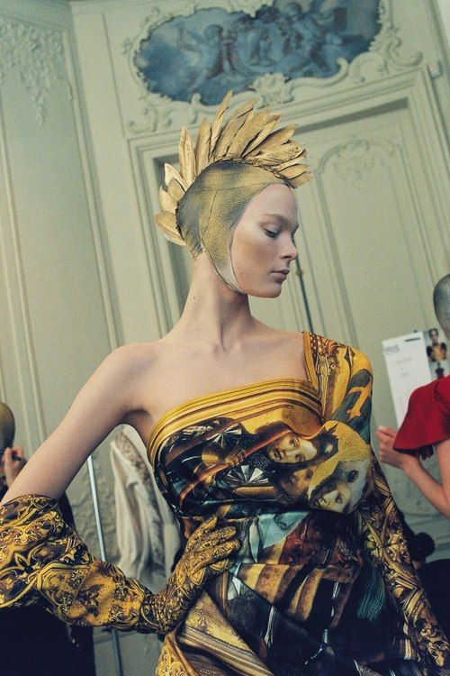 Backstage atAlexander McQueen fall/winter 2010-2011 from the book Love Looks Not With The Eyesby Anne Deniua