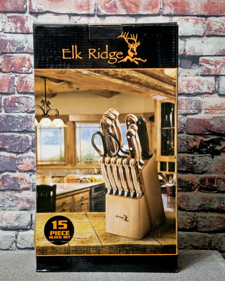 #NEWARRIVALS #ELK #RIDGE #15 #PIECE #KITCHEN #CUTLERY #KNIFE #SET AND #BLOCK #STAINLESS #STEEL #CHEF #KNIVES. #furniture #classic #modern #contemporary #concept #decoration #homedecor #homefashion #eclectic #interiors #enjoyyourhome #decorating #decorative #design at : - http://www.cutlerywholesaler.com/elk-ridge-15-piece-kitchen-cutlery-knife-set-and-block-stainless-steel-chef-knives.aspx