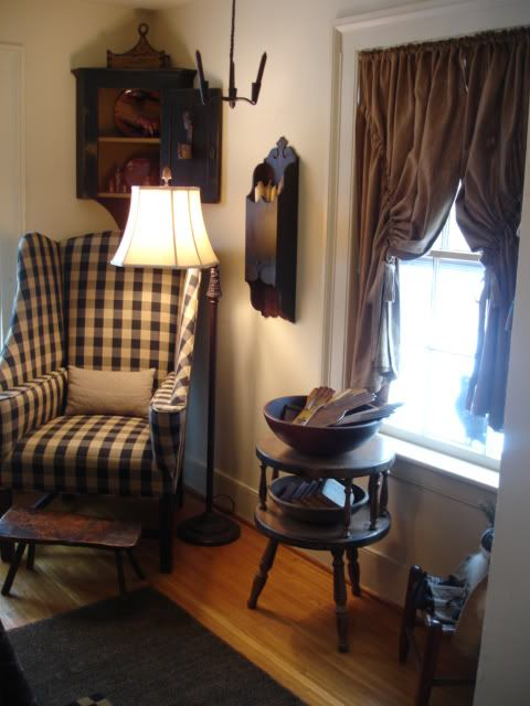 Chair, Lamp And Corner Cabinet In South West Corner