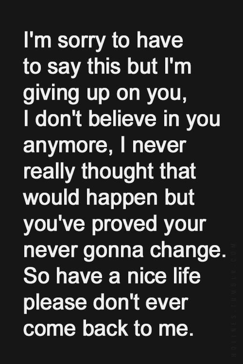 im giving up on life quotes - photo #8