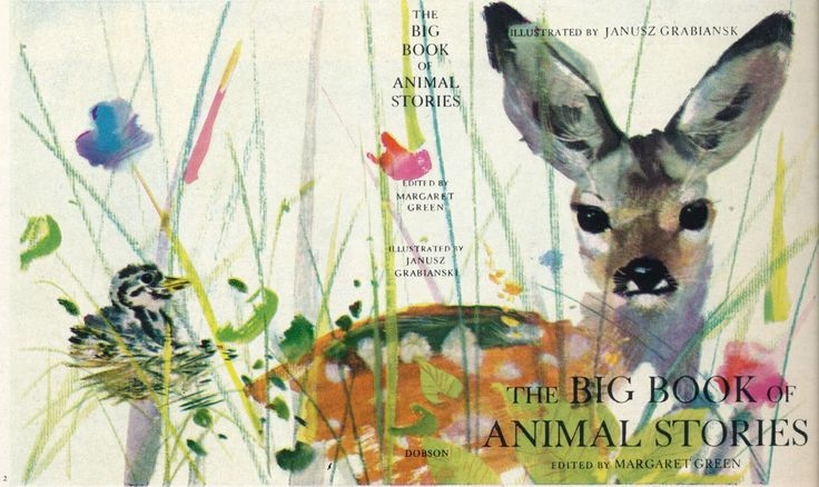 Janusz Grabiański - Cover illustrations for Margaret Green's 'Big Book of Animal Stories'