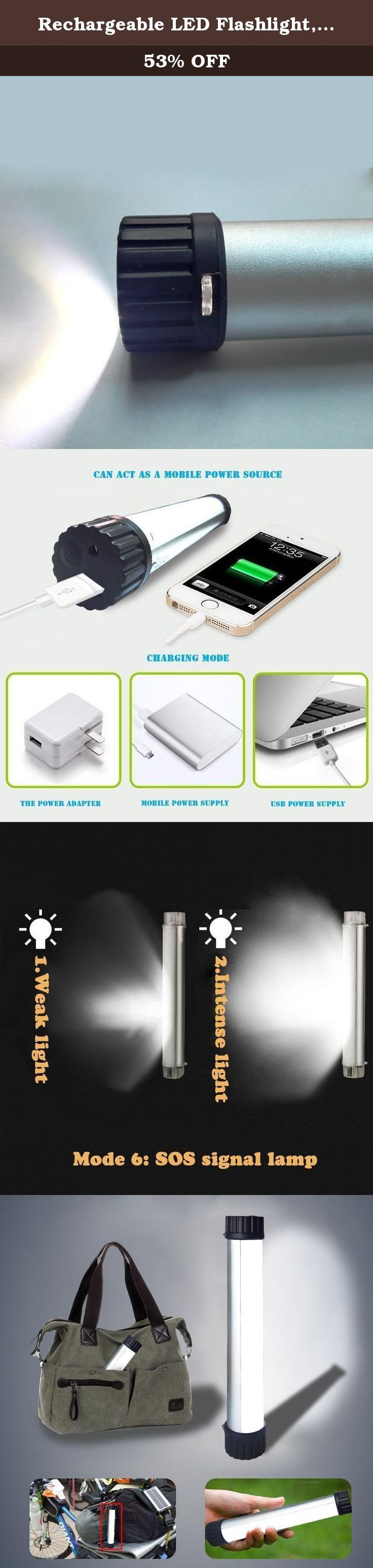 Rechargeable LED Flashlight,BAVIER® LED Light Stick,Mini USB Charging LED Emergency Light,SOS Emergency Light,Portable LED Camping Light for Camping/ Fishing/ Tent/ Outdoor/ Emergency (LED Stick). Specifications: 【Light】:Tube light 330LM LED /Flashlight: 110LM LED 【name】:Multi-purpose Light 【Tube Type】:LED 【package】:1 pc 【Battery life】: Mode 1>28hrs Mode 2>50hrs Mode 3>75hrs Mode 4>15hrs Mode 5>7hrs Mode 6>13hrs 【Use】:Camping,Lightening,USB Charging 【Charge Time】:>5 Hours charged by AC...