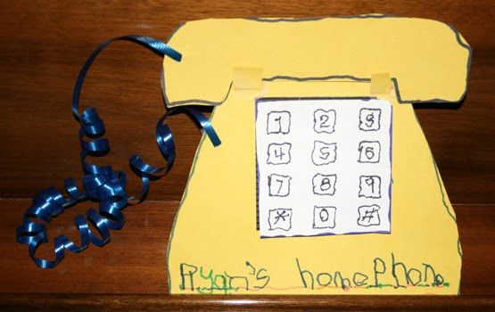 cool craft when we learn about Alexander Graham Bell and when teaching your phone number!