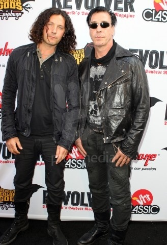 Rammstein's Till Lindemann and Christoph Doom Schneider at the Revolver Golden Gods Awards.