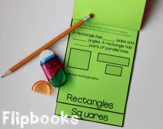 Geometry flipbooks for polygons and quadrilaterals - Love using these for common core math!