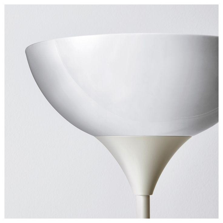 IKEA - NOT Floor uplight/reading light white, white
