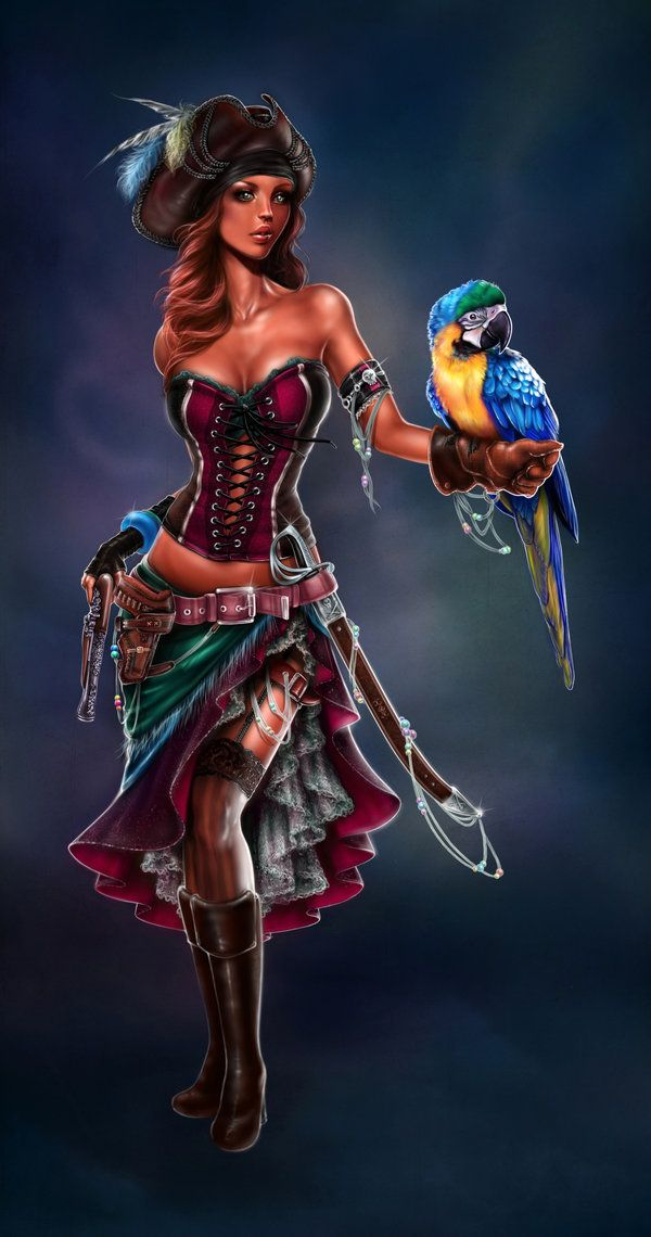 ☆ Pirate Lady。Art By :→ Giselle Ukardi ☆