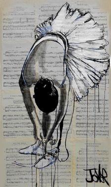 """Saatchi Online Artist Loui Jover; Drawing, """"danseuse de ballet"""" #art"""