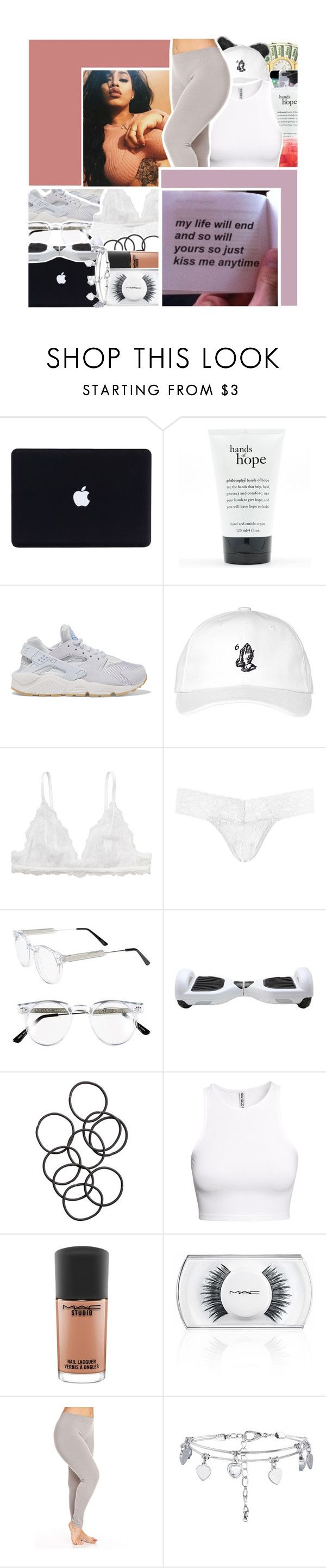 """""""your body sings a song to mine and it's something about it that I like to hear.. """" by baestation ❤ liked on Polyvore featuring philosophy, NIKE, October's Very Own, Monki, Hanky Panky, Spitfire, H&M and MAC Cosmetics"""