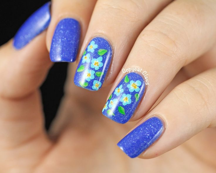 Copycat Claws: 31DC2014 Day 14 - Picture Polish Forget Me Not Flowers