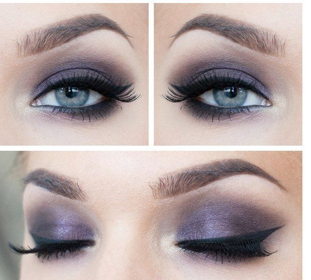 Flawless makeup for blue and gray eyes