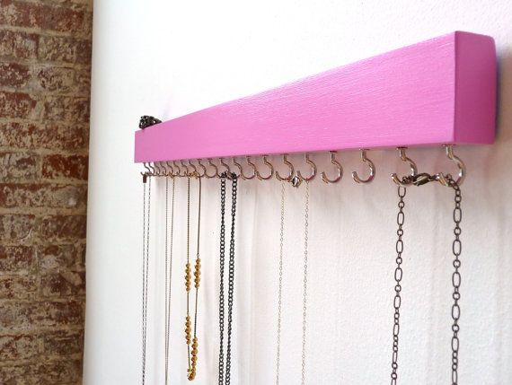 Jewelry Organizer Wall Jewelry Holder Necklace by FreshlyFramed