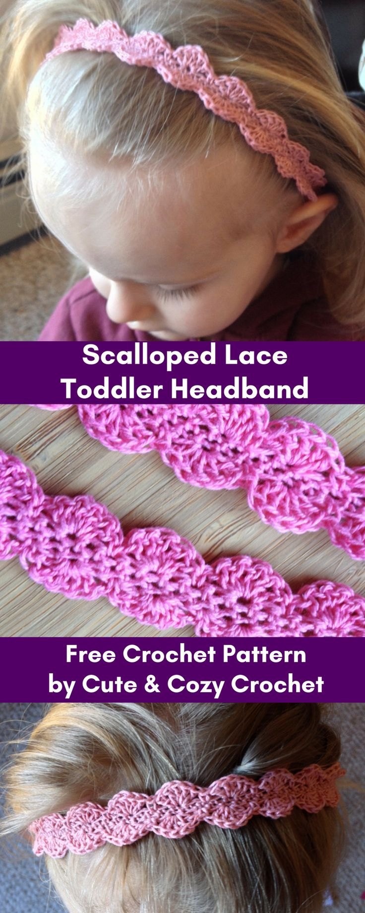 Scalloped Lace Toddler Headband