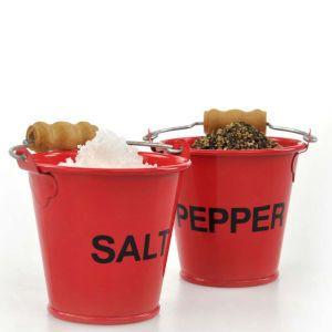 Love these original salt and pepper pinch pots.  http://www.pricerunner.co.uk/cl/461/Kitchen-Accessories#search=salt+and+pepper+pinch+pots&sort=4&q=salt+and+pepper+pinch+pots