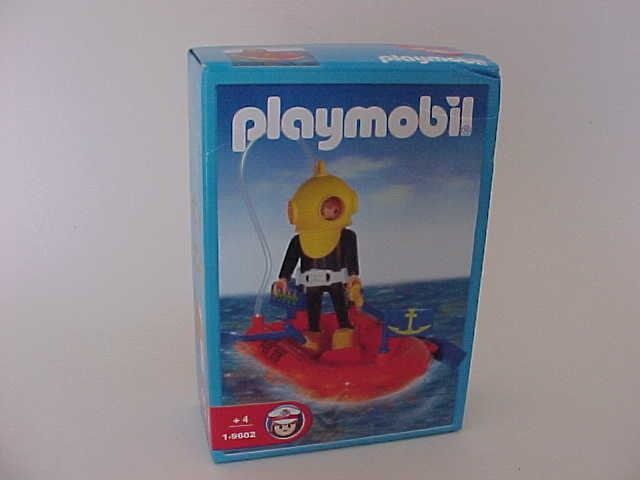 Playmobil 1-9602 Diver with rowboat & accesories_Antex Argentina // Not available