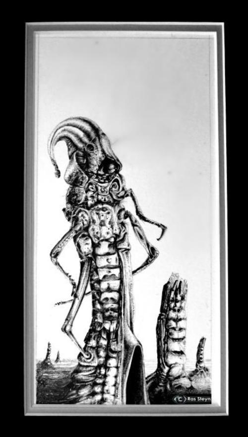 Buy SURREALISM : According to Arthur C. Hopper' by Ras Steyn - A Scrupulous Pencil Sketch [1XOriginal]for R600.00